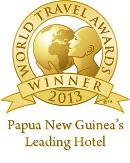 Winner of the 2013 World Travel Award for Papua New Guinea's Leading Hotel